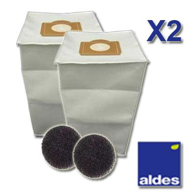 2 sacs aldes universels capacit 30 litres 2 filtres moteur. Black Bedroom Furniture Sets. Home Design Ideas