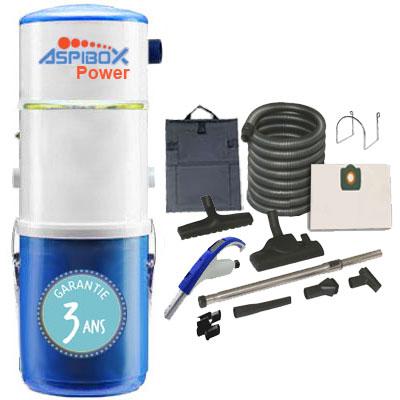 Aspirateur-Central-ALDES,-ASPIBOX-POWER-Garantie-Surface-jusqu'à-nettoyage-flexible-garage-accessoires-OFFERT