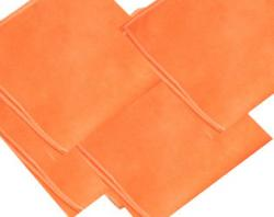 microfibres orange entretien courant par 10